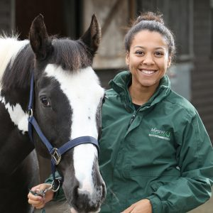 Intern Amber with Horse at Minster Equine