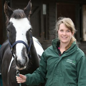 Intern Rachel with Horse at Minster Equine